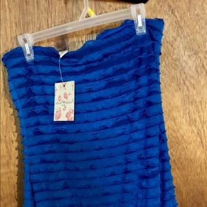 Derek Heart blue ruffle mini dress